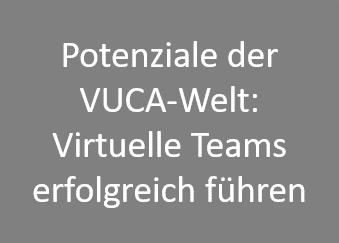Potenziale der VUCA-Welt: Virtuelle Teams erfolgreich führen